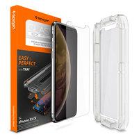 Spigen Glassprotector met hulpstuk voor bevestigen iPhone X XS 11 Pro - 9H Hardheid