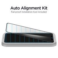 Spigen AlignMaster Glassprotector en bevestiginghulp iPhone 11 Pro Max en XS Max - Zwarte Rand
