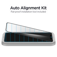 Spigen AlignMaster Glassprotector en hulpstuk voor bevestigen iPhone 11 Pro en X XS - Zwarte Rand