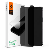 Spigen Glassprotector Privacy Coating iPhone 12 en 12 Pro - Bescherming