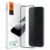 Spigen FC Black HD Glassprotector iPhone 12 mini - Zwarte Rand Bescherming