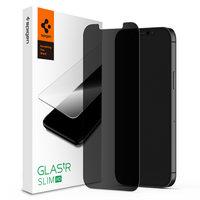 Spigen Glassprotector Privacy Coating iPhone 12 mini - Bescherming 9H