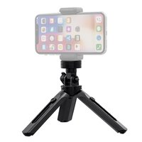 Mini Tripod met Telefoonhouder en standaard 1/4 inch camera bevestiging