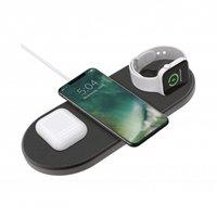 Xqisit Draadloos Oplaadpad Oplaadstation met Apple Watch oplader Qi - 3 Oplaadpunten