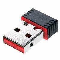 WiFi Dongle stick USB netwerk adapter wireless draadloos 802.11n - Zwart