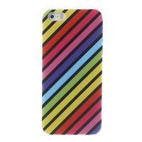 Regenboog patroon hardcase hoesje iPhone 5/5s en SE rainbow