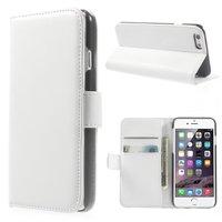 Wallet lederen wit Bookcase hoesje iPhone 6 6s Witte portemonnee