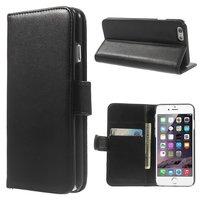 Zwart wallet Bookcase hoesje portemonnee iPhone 6 / 6s lederen