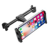 Tablethouder Telefoonhouder Hoofdsteun autostoel achterbank 4-11 inch voor iPhone iPad Samsung - Zwart