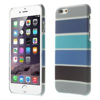 Glow in the Dark hoesje iPhone 6 / 6s - Blauw Grijs gestreepte cover