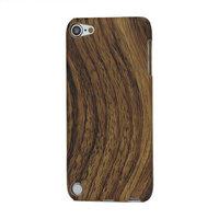 Houten hoesje iPod Touch 5 6 7 Wood hard case Donker hout