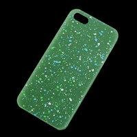 Glow in the Dark hoesje iPhone 6 Plus / 6s Plus hardcase Spikkels groen wit blauw