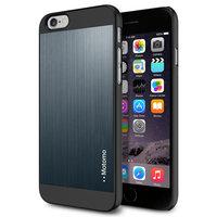 Aluminium hardcase Motomo iPhone 6 6s Blauw Brushed patroon hoesje