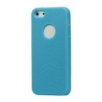 Stevige fingerprint case iPhone 5 5s SE Licht blauwe silicone hoesje