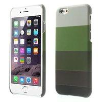 Glow in the Dark hoesje iPhone 6 6s - Groen tinten strepen cover