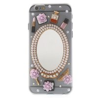 Sieraad hoesje iPhone 6 6s Chique met spiegel Make-up hardcase
