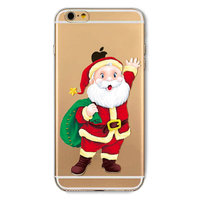 Kerst hoesje iPhone 6 Plus 6s Plus Christmas case silicone TPU Kerstman cover