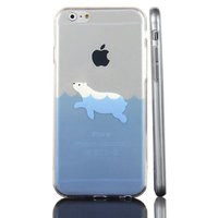 IJsbeer hoesje iPhone 6 Plus 6s Plus Polar bear TPU doorzichtig case