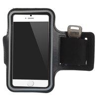 Zwarte hardloopband iPhone 6 6s 7 8 SE 2020 Sport Armband - Sportband - Zwart