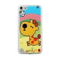 Speels giraffe hoesje iPod Touch 5 6 Vrolijke hardcase giraf met regenboog