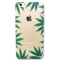 Doorzichtige wiet hardcase iPhone 6 Plus / 6s Plus Marihuana design Wietbladen cover