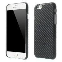 Zeer stevige Carbon cover iPhone 6 Plus 6s Plus Zwart TPU hoesje Stoere case
