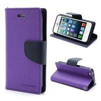 Paarse Mercury Goospery wallet Bookcase iPhone 5 5s SE 2016 Original Lederen hoesje - portemonnee