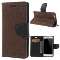 Wallet case Origineel Mercury Goospery Bookcase hoesje iPhone 6 6s Bruin zwart portemonnee