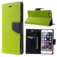 Mercury Goospery groene wallet Bookcase iPhone 6 Plus 6s Plus portemonnee hoesje