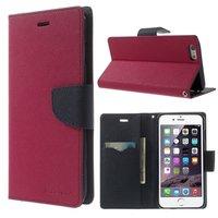 Wallet case roze Mercury Goospery Bookcase iPhone 6 Plus 6s Plus portemonnee hoesje