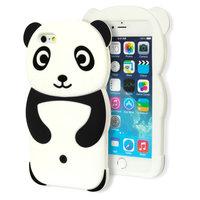 Rilakkuma Panda hoesje 3D iPhone 6 6s silicone case Zwart wit