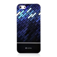 Donkerblauw Comma hardcase iPhone 5/5s en SE Zwart hoesje