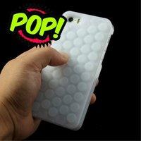 Bubbeltjesplastic silicone hoesje iPhone 5 5s SE Noppenfolie case
