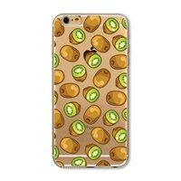Doorzichtig Kiwi hoesje iPhone 6 Plus en 6s Plus TPU silicone cover fruit transparant groene Kiwi's