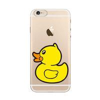 Badeend TPU hoesje iPhone 6 Plus 6s Plus Doorzichtig cover Gele eend