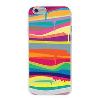 Fel gekleurde hardcase iPhone 6 6s Hoesje met Regenboog kleuren Verfdesign
