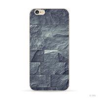 Grijs Blauw natuursteen hoesje iPhone 5/5s en SE Silicone cover Stone case