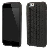 Zwarte autoband cover iPhone 6 Plus iPhone 6s Plus Silicone Autosporen hoesje