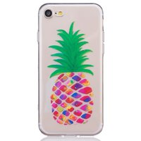 Ananas hoesje doorzichtig iPhone 7 8 Silicone pineapple case Kleurrijk