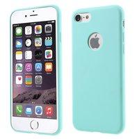 Lichtblauw silicone hoesje iPhone 7 8 lichtblauwe cover Effen Blue case