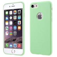 Effen groen gekleurde silicone hoesje iPhone 7 8 Groene cover Green case