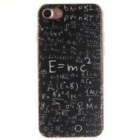 Natuurkunde formules TPU hoesje iPhone 7 8 SE 2020 E=MC2 wiskunde hoesje