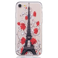 Doorzichtig Parijs hoesje iPhone 7 8 Silicone cover Paris Eiffeltoren