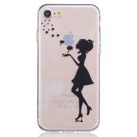 Bloemetjes blazend dame hoesje iPhone 7 8 Doorzichtige silicone case
