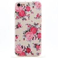 Roze Roosjes TPU Case iPhone 7 8 Sierlijk Bloemen Rozen Hoesje