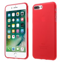 Rood silicone hoesje iPhone 7 Plus en 8 Plus Rode cover effen Red case