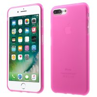 Effen roze hoesje iPhone 7 Plus 8 Plus Pink cover Silicone case