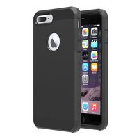 Shockproof hoesje iPhone 7 Plus 8 Plus Zwart zeer stevige TPU cover