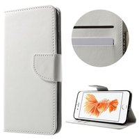 Portemonnee Bookcase hoesje iPhone 7 Plus 8 Plus wit Wallet case Lederen cover