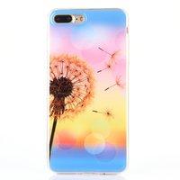 Blaasbloem silicone TPU hoesje iPhone 7 Plus 8 Plus gekleurde cover bloem